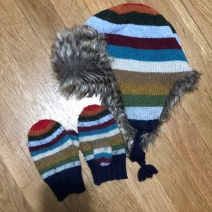 Gap - Trapper hat and mittens - toddler S/M